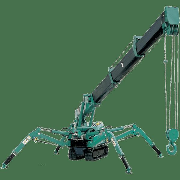 Maeda Mini Cranes : All terrain maeda mc spider crane mini crawler