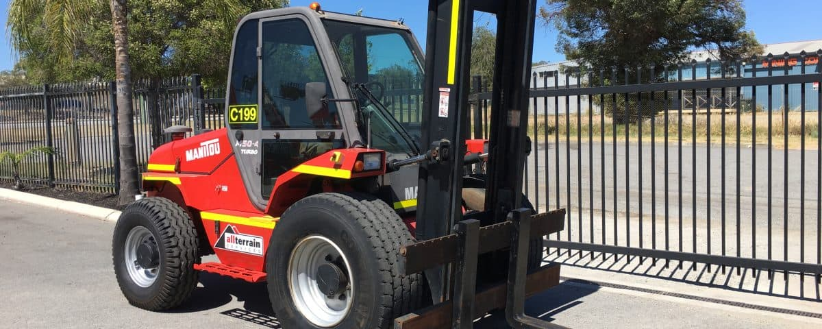 manitou forklift parked in sunlight
