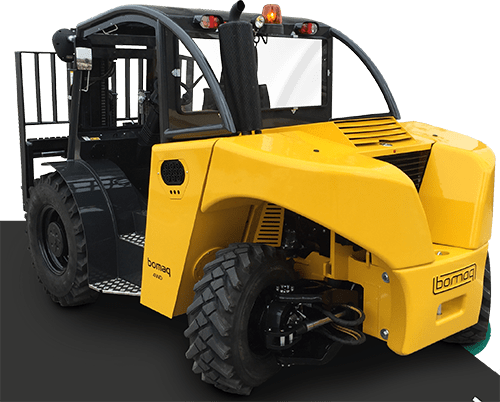 Yellow 4WD Fork Lift Truck