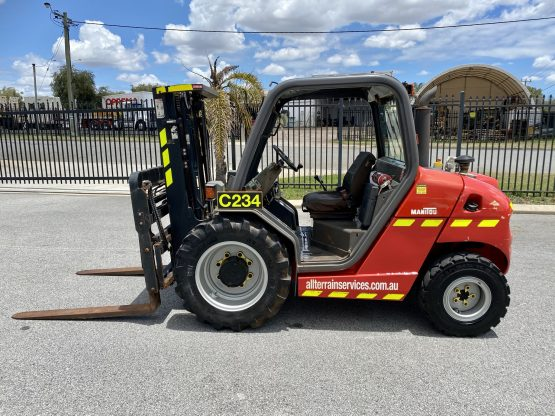 Manitou MH 25-4T Buggie rough terrain forklift for hire in Perth