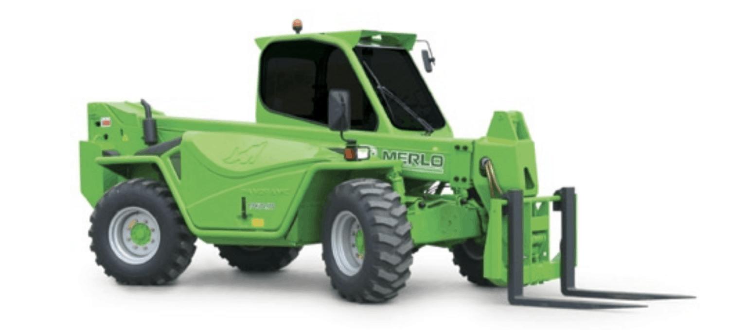 Merlo P 60.10 Telescopic Forklift fire hire in perth