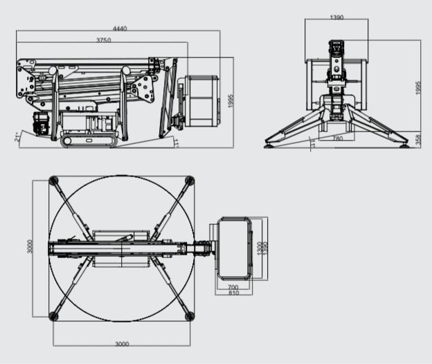 Ruthmann BLUELIFT SA 18 HB crane specifications