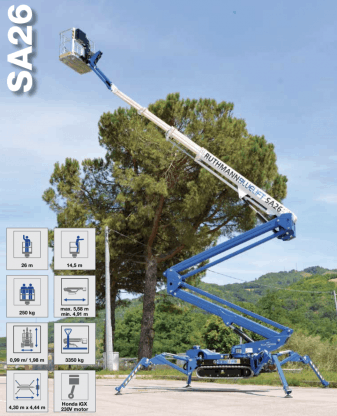 Blue Lift SA 26 spiderlift for sale in perth